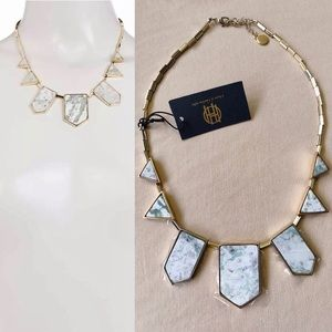 New HOUSE OF HARLOW Jade Stone Station Necklace